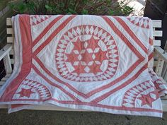 Seven Star or Seven Sister Quilt- I had the privilege of quilting this antique top