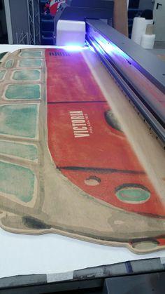 Madera impresa tecnología  UV LED