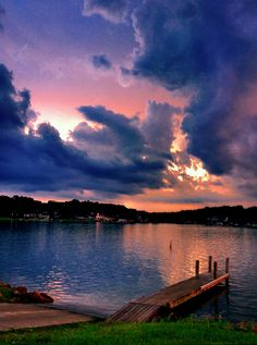 Gorgeous sky over Apple Valley Lake