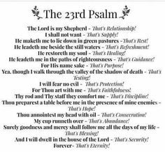 Psalm 23rd broke down in a very cool way.