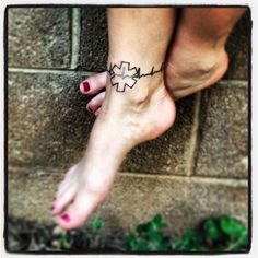 EKG EMT ankle tattoo