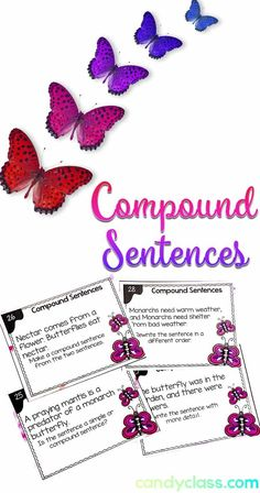 This fun second grade activity covers compound sentences. Students discern between simple and compound sentences. These are rigorous too. Use these in your second grade centers or for differentiating instruction in first grade classrooms. How To Teach Grammar, Teaching Grammar, Grammar Lesson Plans, Grammar Lessons, Grammar Activities, Writing Activities, Teaching Strategies, Teaching Methods, Teaching Resources