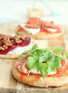 Pitta pizza's van speltmeel