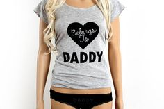 DDLG Daddy's girl clothing set. Belongs to daddy T-shirt and daddy's property panties. ddlg lingerie set. BDSM kit for littles