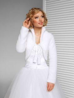WEDDING / BRIDAL - FAUX FUR SHRUG / BOLERO / JACKET / COAT XS S M L XL XXL -B39