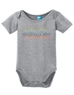 Columbus Georgia Retro Onesie Funny Bodysuit Baby Romper