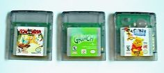 3 Gameboy Color Game Lot GBC GBA SP ~ TOM & JERRY ~ THE GRINCH ~ WINNIE THE POOH