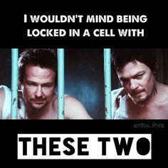 Just to imagine sitting in jail with these two, eh I dunno. Man I'd probably sleep on a palette on the floor while they both fight over who gets bottom bunk and who gets top bunk. Other than that, I'd keep to myself, just to think that one day I'll be free from the mess I'd be going through.