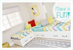 Cute idea for a shared bedroom