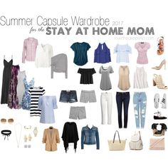 2017 Summer Capsule Wardrobe for the Stay at home Mom by bethoverdeep on Polyvore featuring Chicwish, Ralph Lauren, Erin Fetherston, American Eagle Outfitters, Tom Ford, Velvet by Graham & Spencer, MANGO, BB Dakota, River Island and Topshop