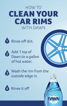 Dirty rims and wheels can take the joy out of any ride. Thankfully, Dawn® cleans everything from baked-on to braked on messes. So take a quick pit stop to clean your brake dust and make those tire rims and wheels shine like new. Tap the Pin to learn more.