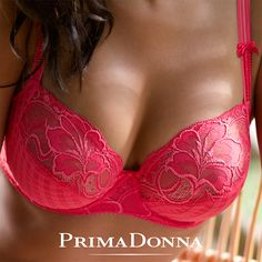 """The new Madison bra by PrimaDonna lingerie, in a bright and fun """"candy pink"""" color, is a wonderful piece for spring and summer. {$124}"""