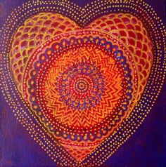 Heart Painting by AliceMasonArtist on Etsy