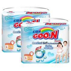 Mua ngay Bộ 2 gói tã quần Goon Jumbo L26 (9-14 kg) chính hãng giá tốt tại Lazada.vn. Mua hàng online giá rẻ, bảo hành chính hãng, giao hàng tận nơi, thanh toán khi giao hàng!
