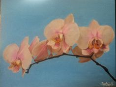 Orchid painting by me