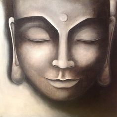 Original Painting  Buddha in Black and White by Lukan4Art on Etsy, $85.00