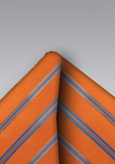 Kavaliertuch Streifenmuster orange