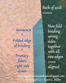 Karen's Quilts, Crows and Cardinals: Tutorial - Mitered and Flanged Machine Binding Free Motion Quilting, Quilting Tips, Quilting Tutorials, Machine Quilting, Sewing Tutorials, Sewing Projects, Jelly Roll Quilt Patterns, Star Quilt Patterns, Quilt Corners