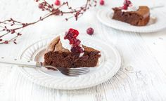 A moist and delicious gluten-free and paleo gingerbread cake with a cranberry chocolate swirl.