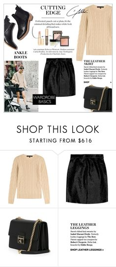 """The leather skirt"" by amaryllis ❤ liked on Polyvore featuring Ralph Lauren Black Label, Yves Saint Laurent, Loeffler Randall and Dolce&Gabbana"