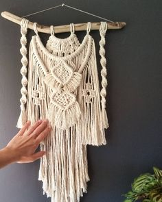 The Fox - Macramé wall hanging by HerHandsbyJayla on Etsy