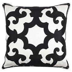 Black & White Bukhara Pillows look stylish on our Portofino outdoor furniture, $69.95