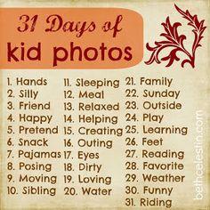 31 Days of kids photos