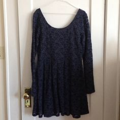 """Free People Lace Dress Short dress. I'm 5""""5 and it hits me at mid thigh. The dress is lined except for the sleeves. It is scooped in the back. No signs of wear. Free People Dresses"""