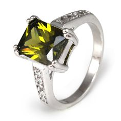 Win this Emerald Cut Peridot Ring from Bee's Knees Gems Daily Giveaway! I Love Bees, Peridot Jewelry, Teacher Fashion, My Birthstone, St Pats, Bees Knees, Emerald Cut, Winter White, Beautiful Rings
