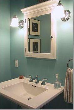 Tiffany Blue bathroom, I love the color for a bathroom.