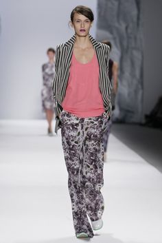 Richard Chai - Love RTW Spring 2012 - Mixing and matching patterns is still in for spring!