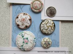Gorgeous Victorian Glass Buttons