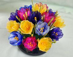 flower basketamaryllisflower bouquethandmade by DennysKraftKorner