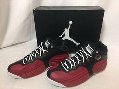 New Nike Air Jordan Jumpman Team 1 Basketball Shoes Sz 11.5 Red Black 644938 004