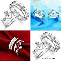 King and Queen wedding rings jewelryaccesories Pinterest We
