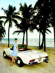 Cruise the coastline in a cute dress (& car).