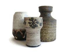 Mid Century Modern ceramic vases set of 3 Mobach by VintageBreda