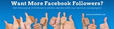 Buy facebook followers from us and receive real and organic followers that are added to your profile without using any fake method, as we do not believe in hindering the terms of service of facebook and also your safety is our prime consideration. Since Facebook works on an open platform, it gives companies all the freedom to advertise their business. - See more at: http://ourfollower.com/buy-facebook-followers