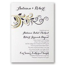 Gold Rush Wedding Invitation