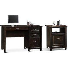 Computer Office Desk Set Antique Black Vintage Desks Workstation Modern Table  #ComputerDesk #Cottage #antique #furniture #homedecor #decoration #desk