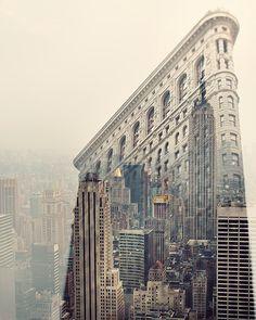 New York Skyline NYC Photography Flatiron Double Exposure by EyePoetryPhotography