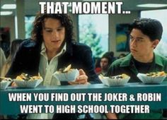 that moment when you find out the joker and robin went to high school together, heath ledger, Joseph Gordon-Levitt