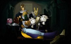 The Anatomy lesson of Dr. Moomie Cow by Jogar777  You can support my work at: http://www.patreon.com/jogar777