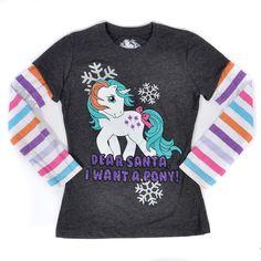 Dear Santa I Want a Pony Girls Tee