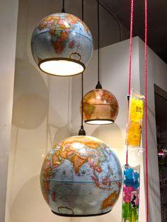 Vintage Globes Pendant Lights