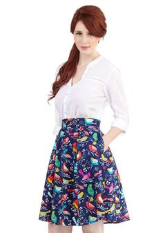 Love the ModCloth This Songbird is For You Skirt on Wantering.