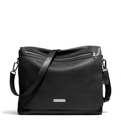 The Thompson Messenger In Black Leather, by Coach. Men's Fall Winter Fashion.