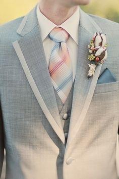 Gray tux idea (different tie)