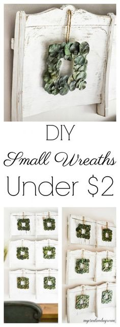 DIY Small Wreaths Under $2