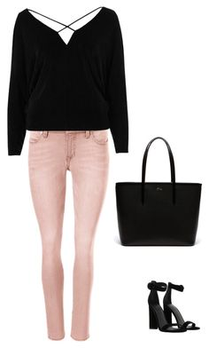 Black and chic by lucydanvers on Polyvore featuring River Island, Kendall + Kylie and Lacoste